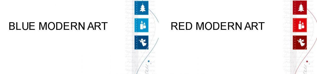 Modern Art - Blau oder Rot