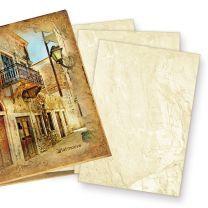Mappe mit Marmorpapier (75 Blatt) Briefpapier DIN A4 beidseitig marmoriertes Papier DIN A4 90g