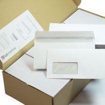 DIN lang Briefumschläge mit Fenster (1000 Stück) haftklebend mit Haftklebestreifen günstig