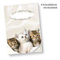 Katzen Schreibblock DIN A5 (10 Stück)