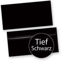 PREMIUM Briefumschläge Schwarz (50 Stück) DIN lang selbstklebend mit Haftklebestreifen