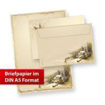 Briefpapier Set Winteridylle DIN A5 (25 Sets ohne Fenster)