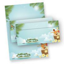 Briefpapier Set Beach-Party (100 Sets)100 Blatt A4 und 100 Umschläge mit Sommer Feeling