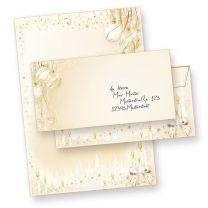 Märchenhaftes Weihnachtsbriefpapier Set (100 Sets mit Umschlägen OHNE Fenster)  mit Umschläge