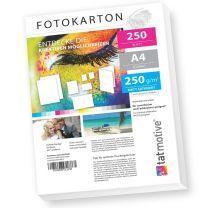 Fotopapier-Fotokarton weiß matt DIN A4, beidseitig für Laserdrucker (250 Stück)