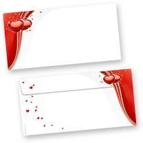 Liebe Briefhüllen rot (500 Stück)