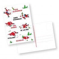 Weihnachten Glühwein 10 Stück Postkarten lustig