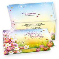 Einladungskarten Geburtstag Frauen FLORENTINA (20 Sets)