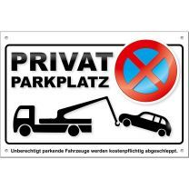 Parkverbotsschild Privatparkplatz PS02 (1 Stück) Schild Parken verboten