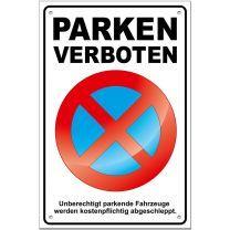 Parkverbotsschild Parken verboten PS04 (1 Stück) Schild Parken verboten