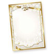 Weihnachtsbriefpapier GOLDEN ROYAL (50 Blatt)  Weihnachten Papier gold