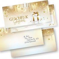 Geschenkgutscheine Weihnachten Stardreams (25 Sets) mit Umschläge