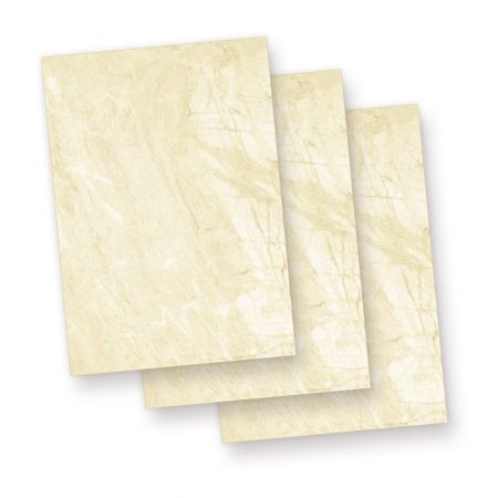 Briefpapier A5 Marmor braun (100 Blatt) Marmorpapier
