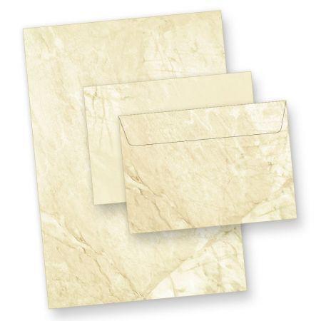 Briefpapiermappe Marmor (25 Sets inkl. C6) Marmorpapier
