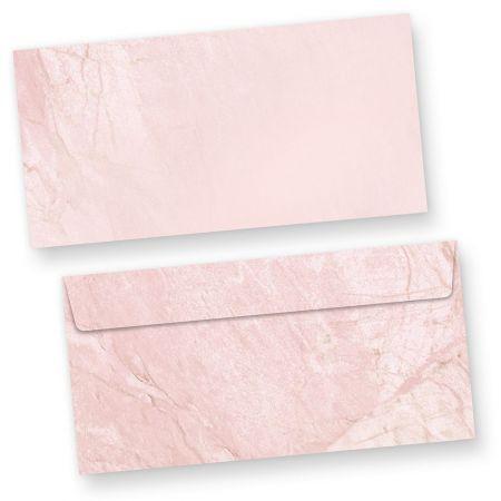 Briefumschläge Marmor Rot (50 Stück) DIN lang haftklebend