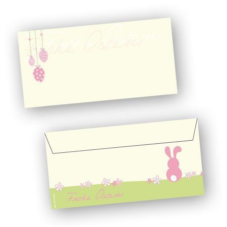Briefumschläge Ostern rosa (50 Stück)