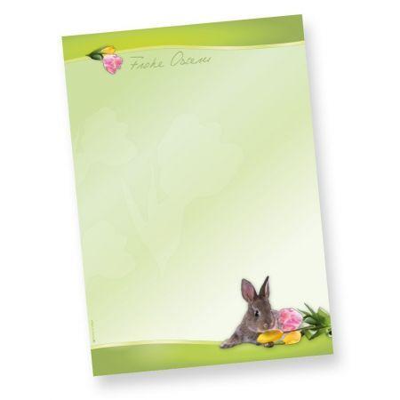 Briefpapier Osterhase (50 Blatt) Vorlagen Design DIN A4
