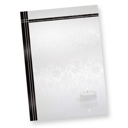 Briefpapier Trauer (50 Stück) DIN A4 schwarzer Trauerrand DIN A4 90 g/qm