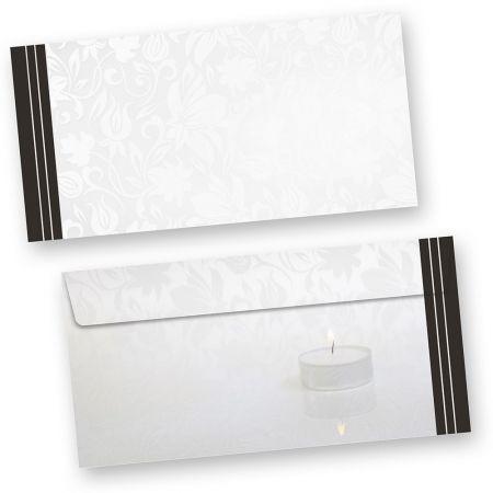 Trauer Briefumschläge (500 Stück ohne Fenster) DIN lang mit schwarzem Trauerrand