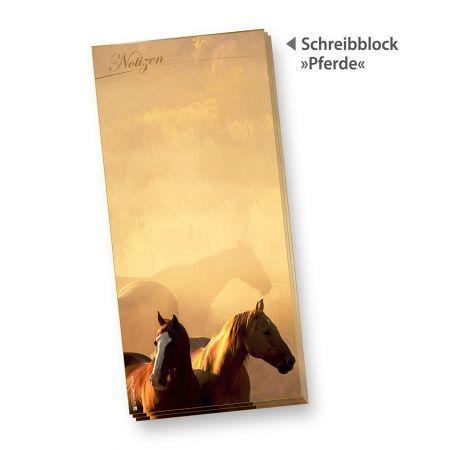 Pferde Schreibblock (4 Stück)