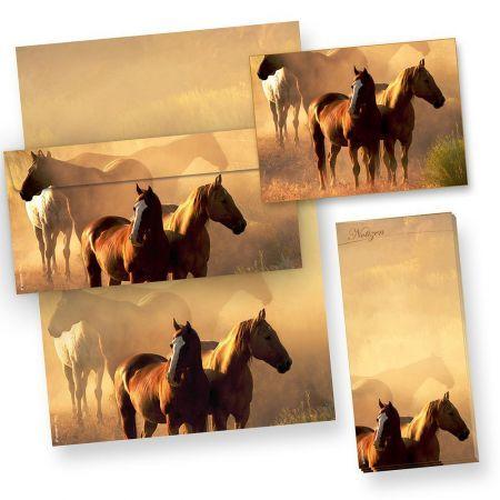 Pferde Briefpapier Set (100 Sets mit Umschläge) Geschenkset für Pferdefreunde