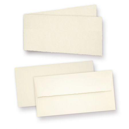 Büttenkarten (10 Sets) Klappkarten Bütten