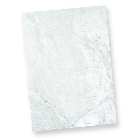 Briefpapier marmoriert grau-blau (50 Stück)