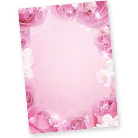Rosen Briefpapier rosa pink (50 Stück)