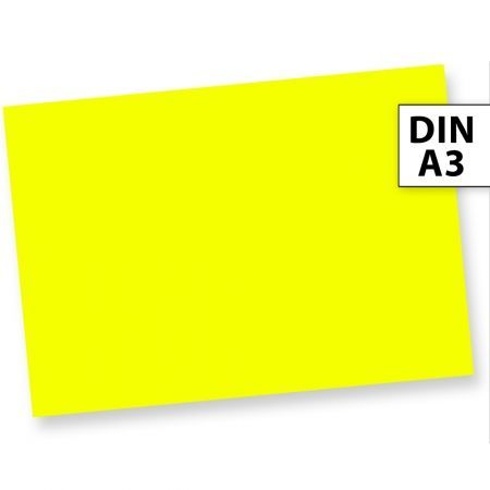 NEON Briefpapier Gelb Neonpapier Leuchtpapier (50 Blatt) DIN A3