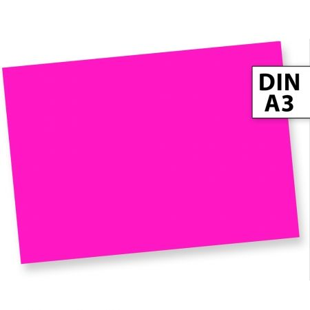 NEON Briefpapier Leuchtpapier Neonpapier PINK (50 Blatt) DIN A3
