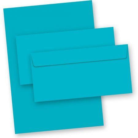 Briefpapier Blau (50-teilig, mit Umschläge)
