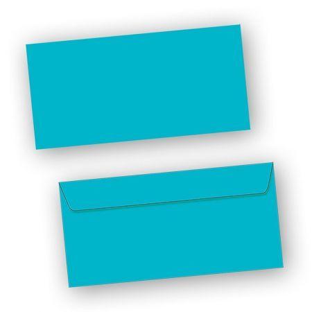 Briefumschläge Blau (50 Stück) DIN lang selbstklebend mit Haftklebestreifen haftklebend DIN lang