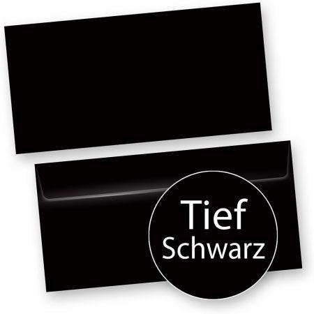 PREMIUM Briefumschläge Schwarz (50 Stück)