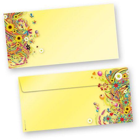 EDITION FlowerPower Briefhüllen (250 Stück) Vintage Umschläge mit Motiv