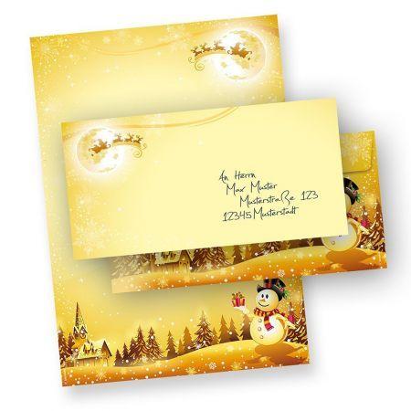 Briefpapier Set Schneemann (10 Sets ohne Fenster)