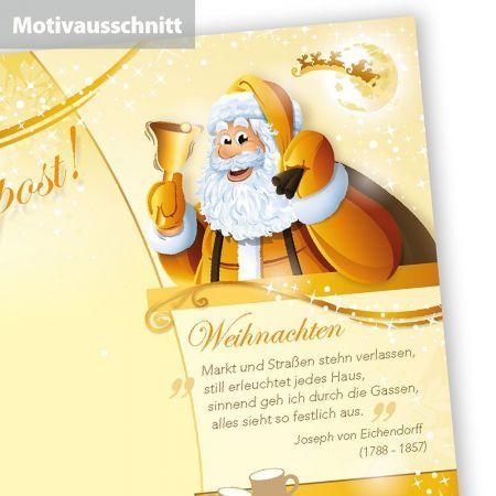 Briefpapier Weihnachtspost (50 Blatt)  doppelseitig, bedruckbar für Weihnachten