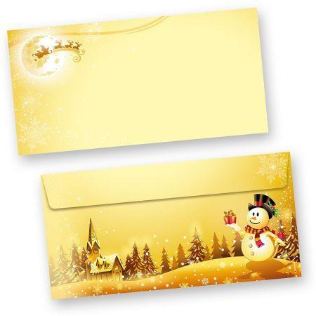 Briefumschläge Schneemann (50 Stück ohne Fenster)