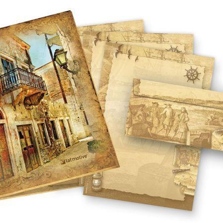 Briefpapier Set Piraten & Seefahrer (25 Sets)