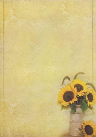 Briefpapier Sonnenblumen mit Blumen Sommer (50 Stück)