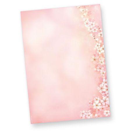 Briefpapier Frühling Kirschblüten (50 Stück)