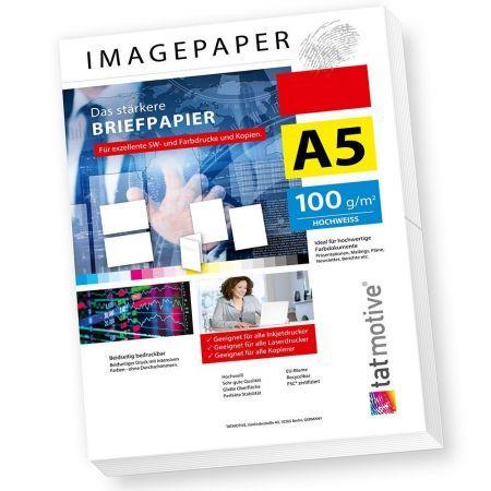 IMAGEPAPER das stärkere Briefpapier 100 g/qm DIN A5 weiß (500 Blatt)