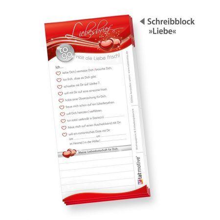 Schreibblock Liebesbrief to go (4 Stück)