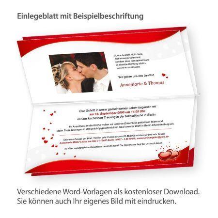 Blätter für Einladung Liebe (10 Blatt)