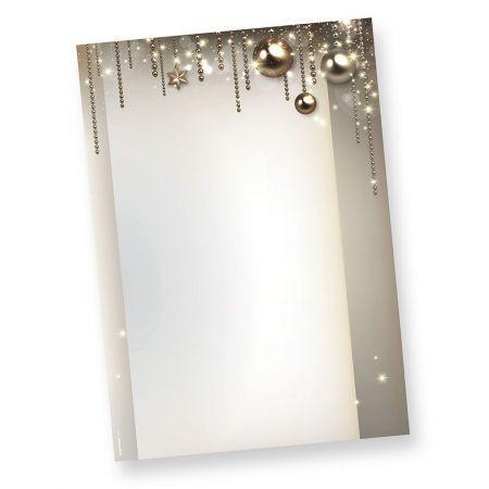 Briefpapier Weihnachten NOBLESSE (50 Blatt)  exklusiv DIN A4 bedruckbar