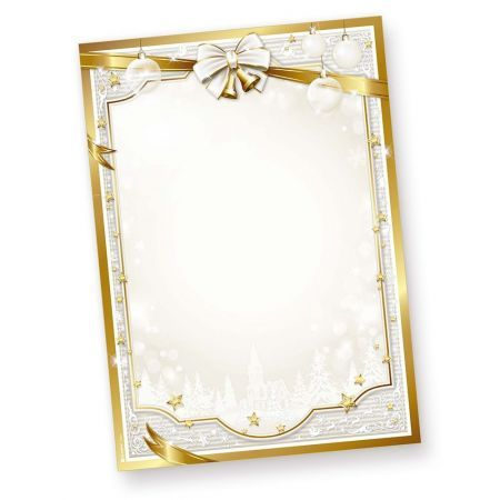 Weihnachtsbriefpapier GOLDEN ROYAL (1000 Blatt)  Weihnachten Papier gold