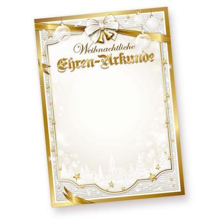 Weihnachtliche Ehren-Urkunde GOLDEN ROYAL (50 Blatt)