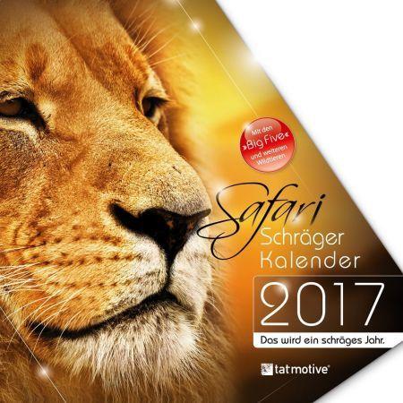 Safari 2017 - Schräger Kalender (1 Stück)