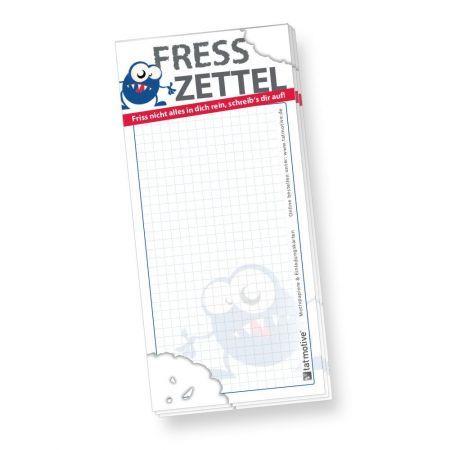 Notizblock Fresszettel kariert (4 Stück) lustige Notizblöcke