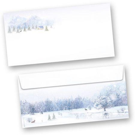 Umschläge Weiße Weihnacht (250 Stück ohne Fenster)  nostalgisch
