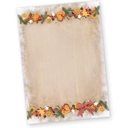 Briefpapier Weihnachten LANDIDYLLE (50 Blatt) Weihnachtsbriefpapier DIN A4